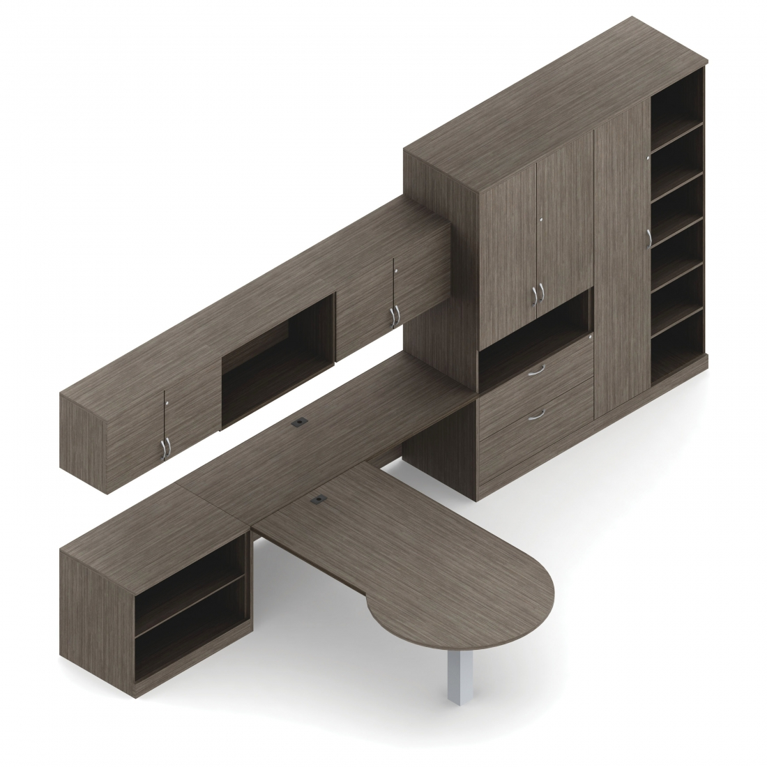 The office furniture blog at new in november modern gray office desks from - Gray office desk ...