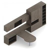 Gray Executive Furniture Set