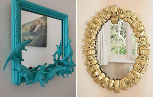 brinquedos Moldura de espelho diferente