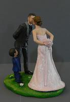 sposini torta nuziale personalizzati figlio top cake lombardia orme magiche
