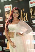 Prajna Actress in bhackless Cream Choli and transparent saree at IIFA Utsavam Awards 2017 029.JPG