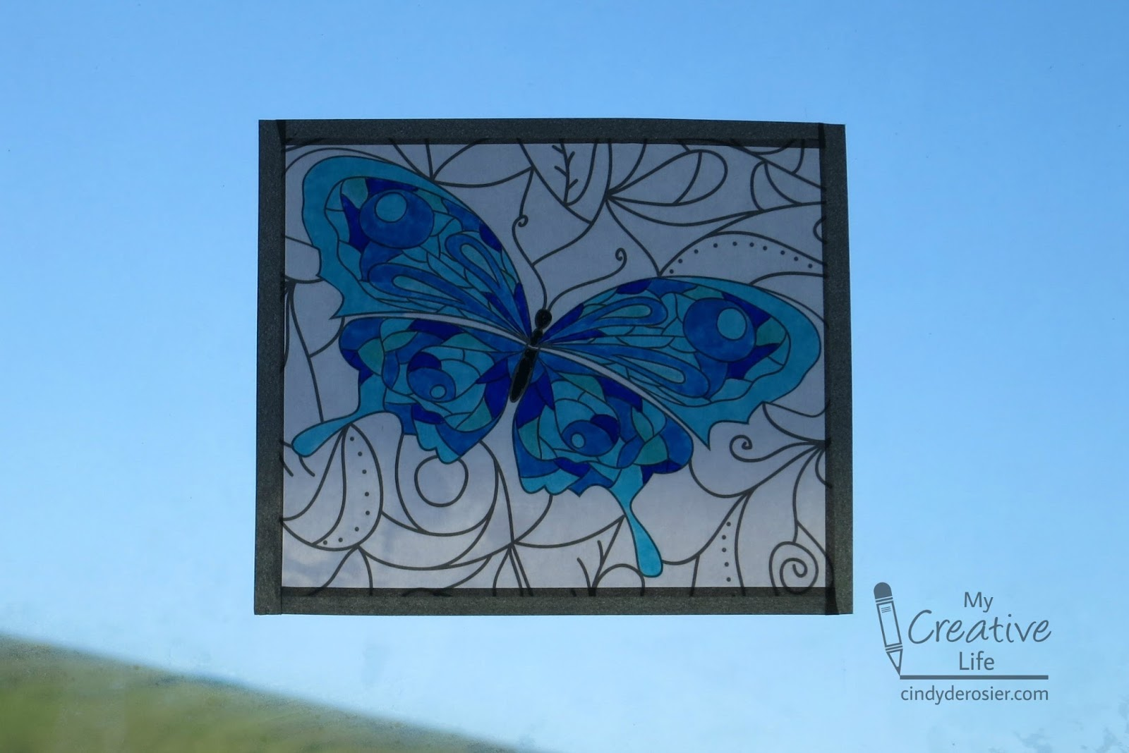 cindy derosier my creative life faux stained glass from a