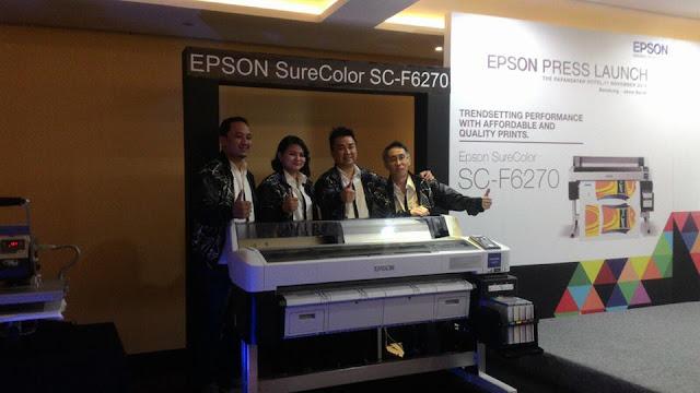 Printer Epson yang selama ini selalu mempunyai penemuan terbaik dalam bidang digital imagin Printer Epson Sure Color F-series terbaru