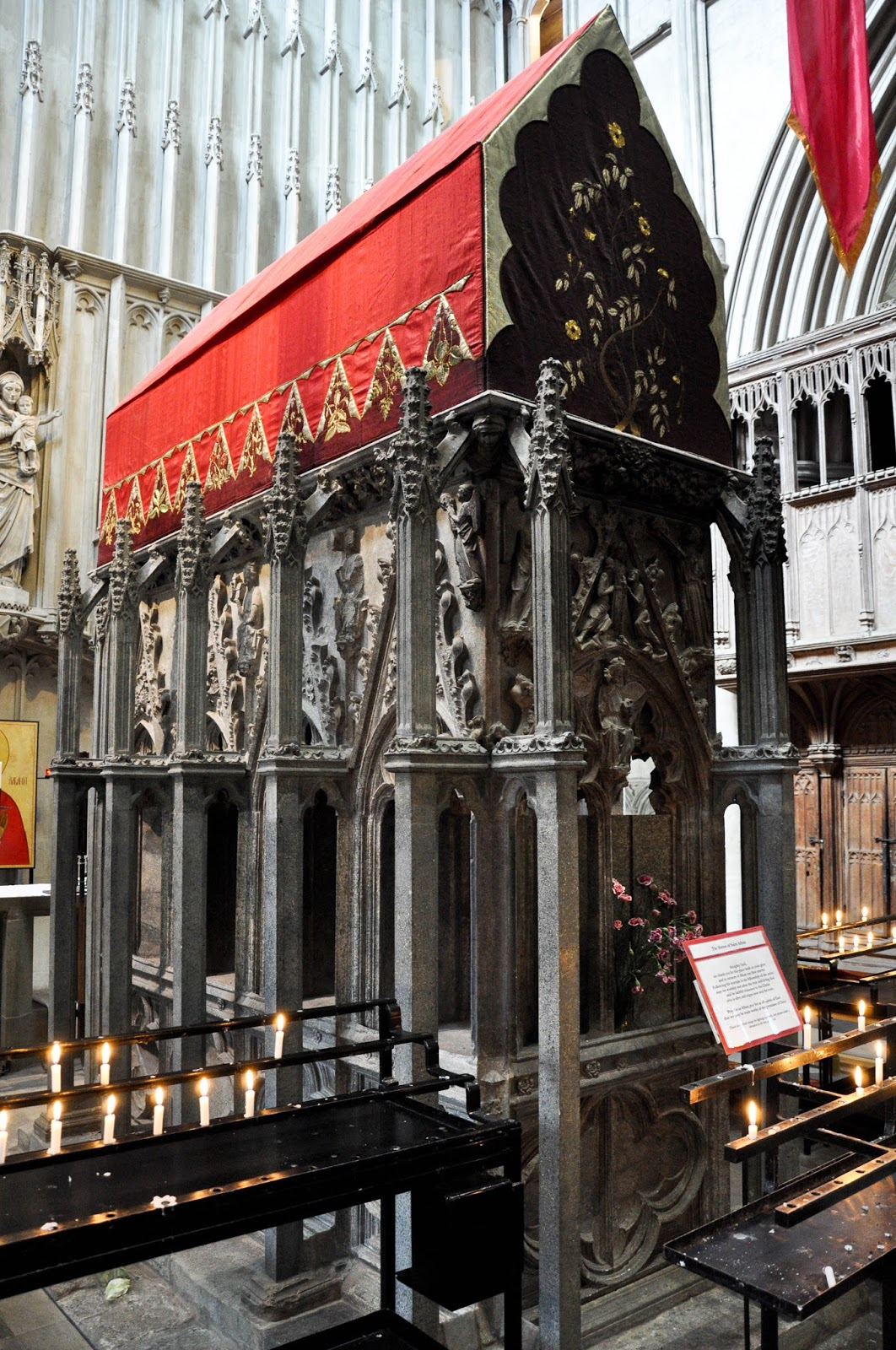 The shrine of St Albans, St. Albans Cathedral, St. Albans, Herts, England