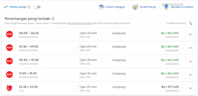 Tips Mencari Tiket Pesawat Termurah Dengan Google Flights-2
