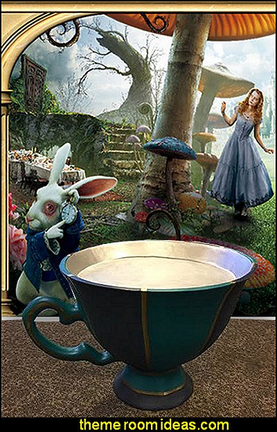 alice in wonderland wallpaper mural fun furniture