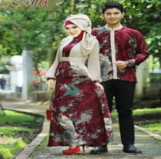 Model Baju Batik Couple Untuk Pesta Modis