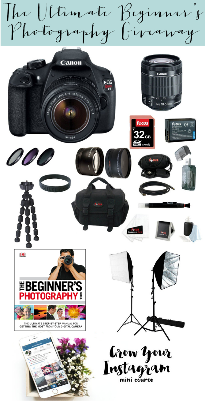 The Ultimate Beginner's Photography Bundle Giveaway!