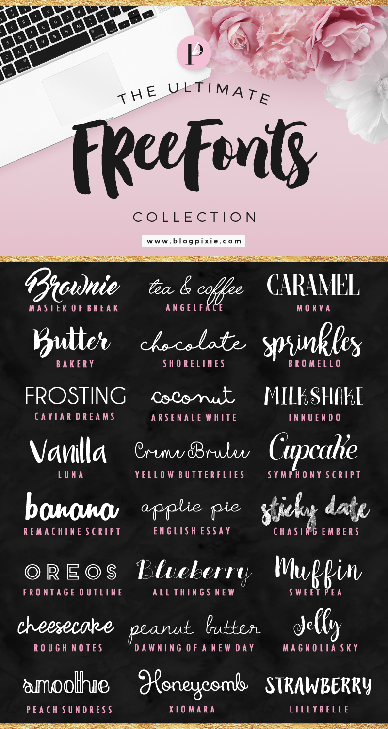 The Ultimate Free Fonts Collection | Font downloads at Blog Pixie
