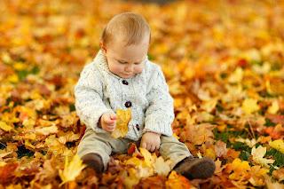 niños y otoño