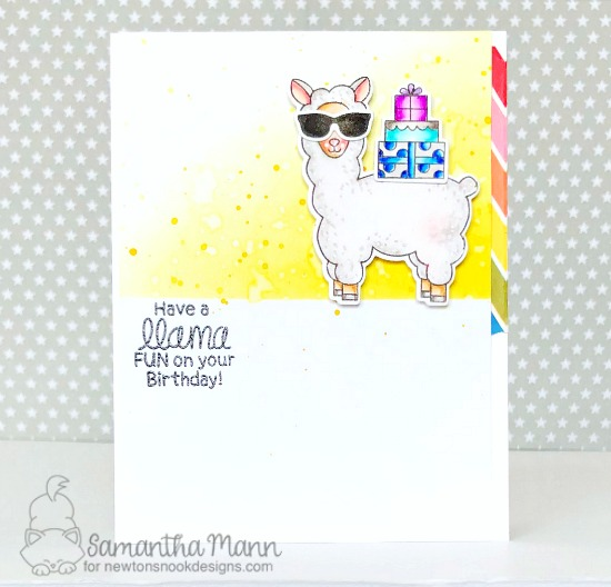 Llama Birthday Card by Samantha Mann| Loveable Llamas Stamp Set by Newton's Nook Designs #newtonsnook #handmade #llama