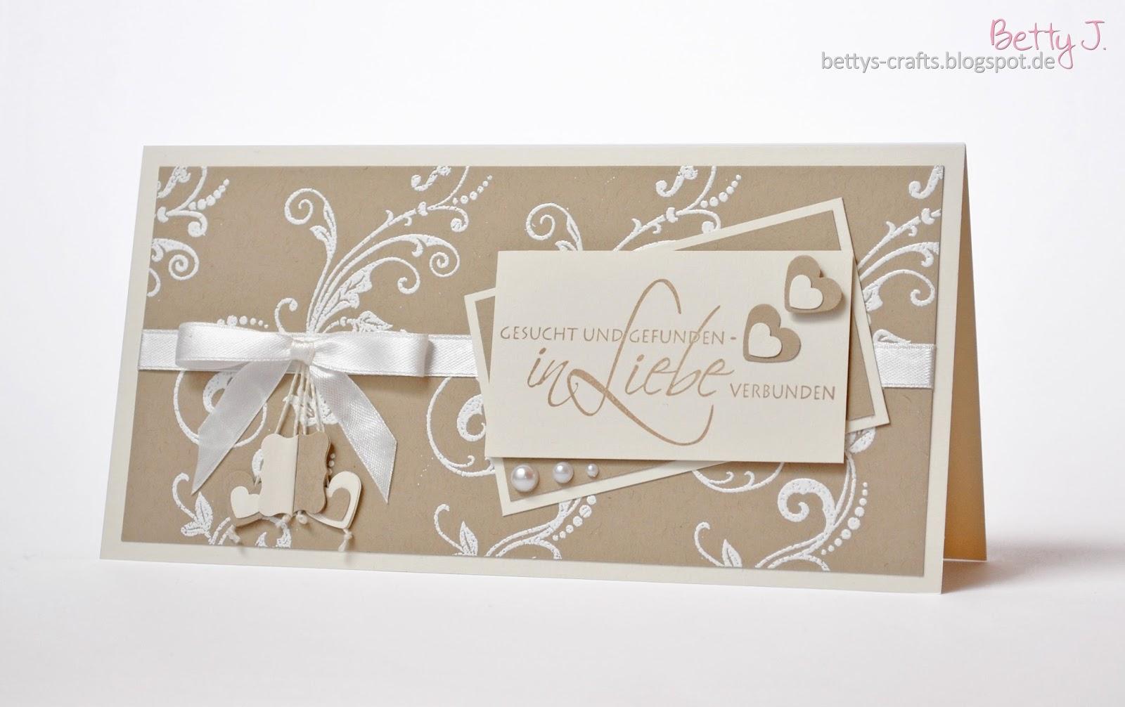 Bettys Crafts Hochzeitseinladungen  Gesucht und gefunden