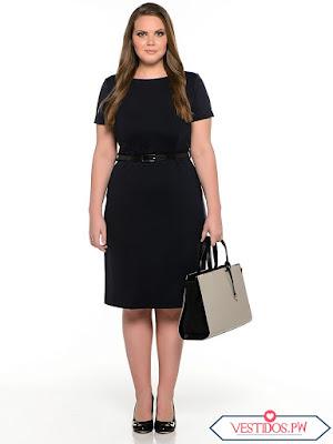 Como combinar un vestido negro para gorditas