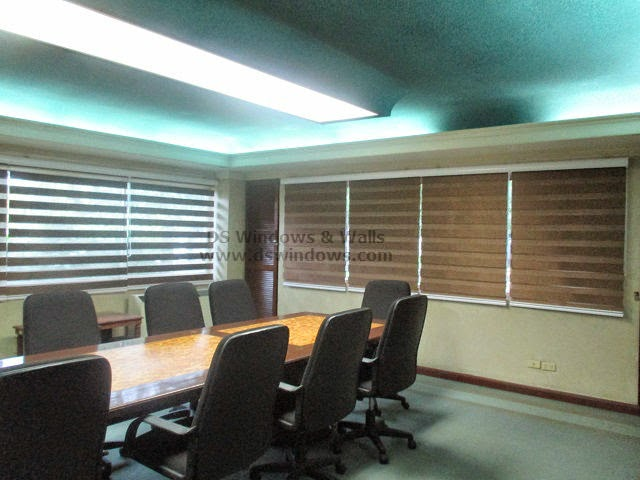 Dual Shade Blinds installed at Makati CBD Philippines