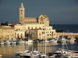 Trani's 12th century duomo - the Cattedrale di San Nicola Pellegrino - stands on a platform on the sea