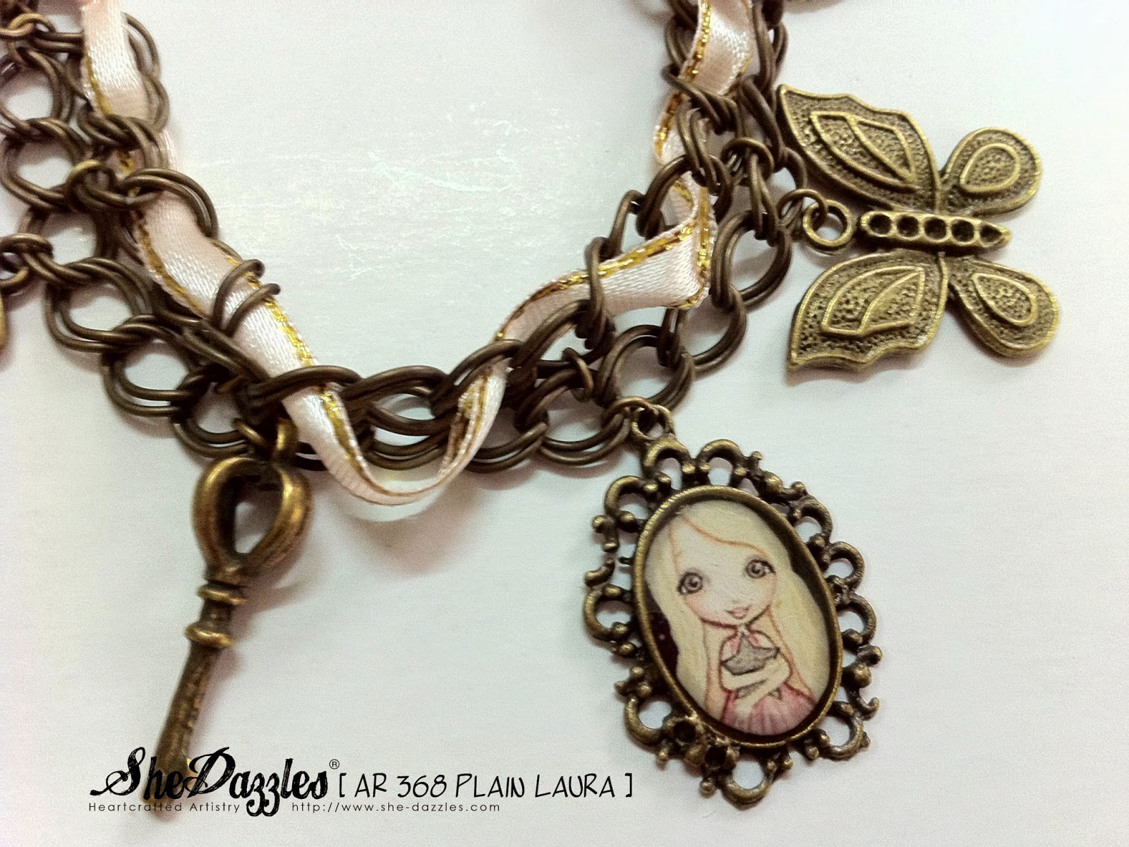 charm-bracelet-pastel-pink-white-shedazzles-malaysia
