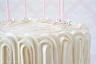 White Cake, White Velvet Cake, Wedding Cake, Silver Candle Holders, Silver Cake Topper, Candle Cake Topper