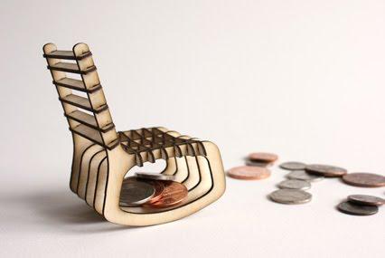 Mini Modern Sketchchair Miniatures