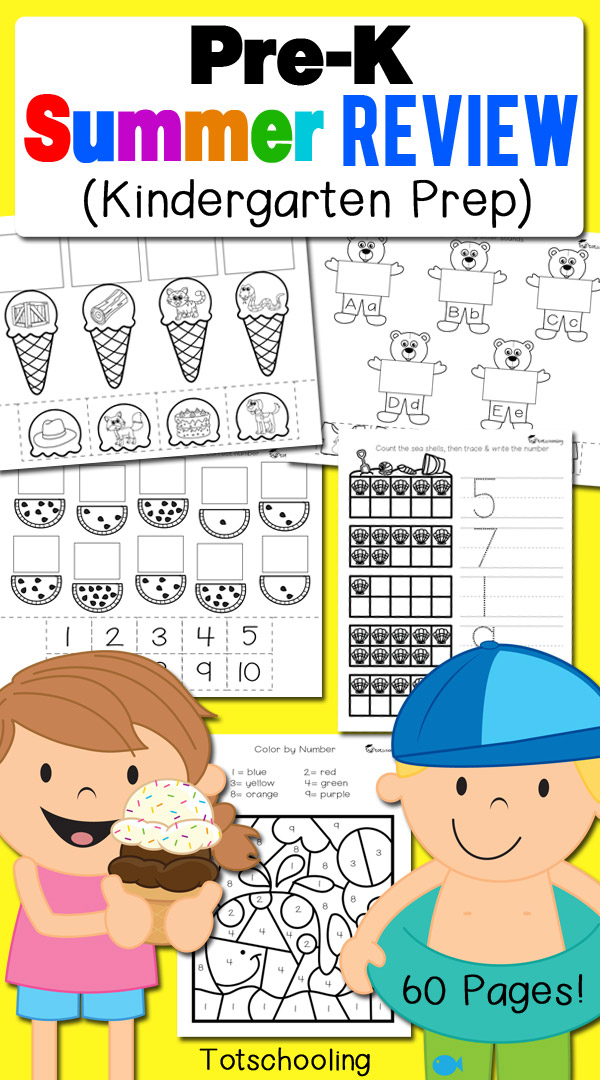 Summer Review Preschool No Prep Worksheets Activities Maze Summer Best Free Printable Worksheets
