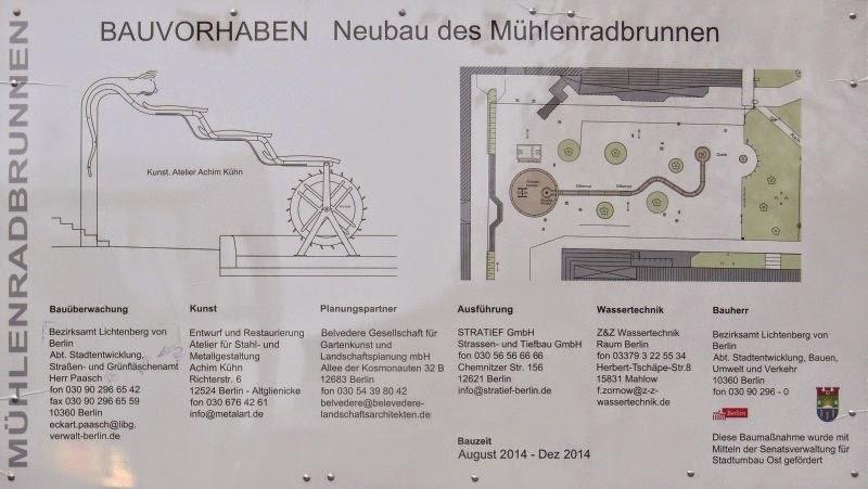 Bauvorhaben 'Neubau des Mühlenradbrunnen'