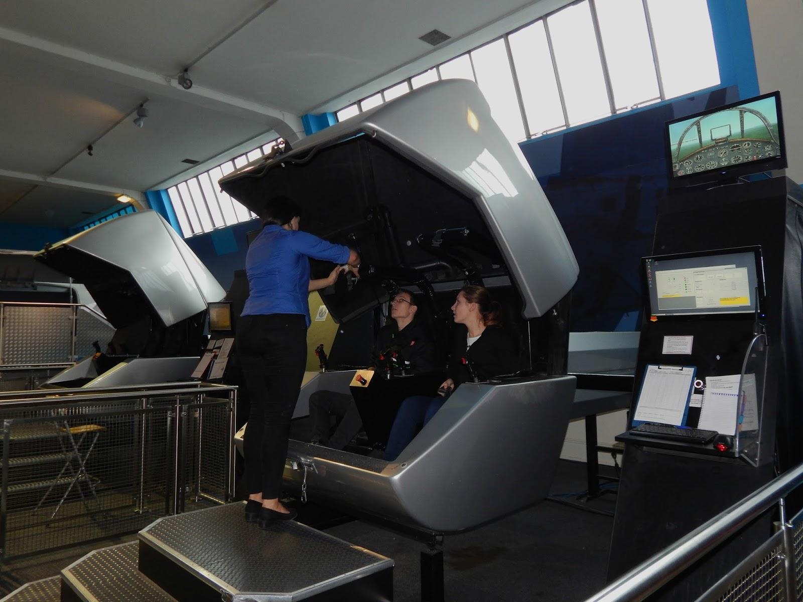 Letecký simulátor ve Science Museu v Londýně
