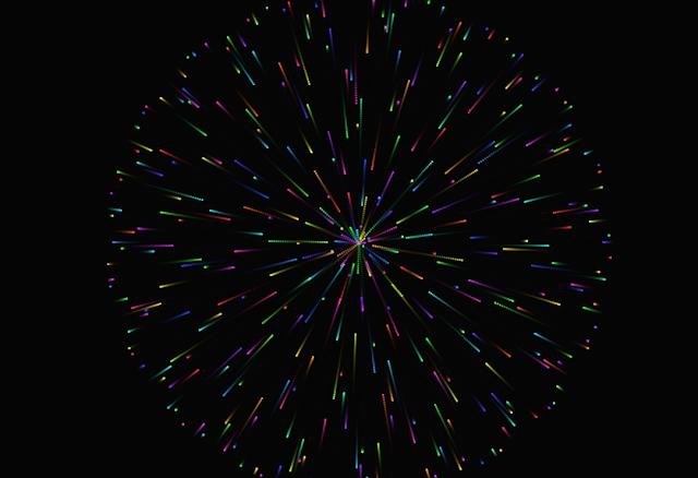 Membuat Animasi Multicolor Firework Menggunakan HTML Javascript