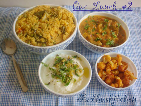Padhuskitchen Lunch Menus