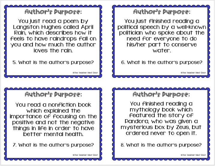 Authors purpose in writing a poem