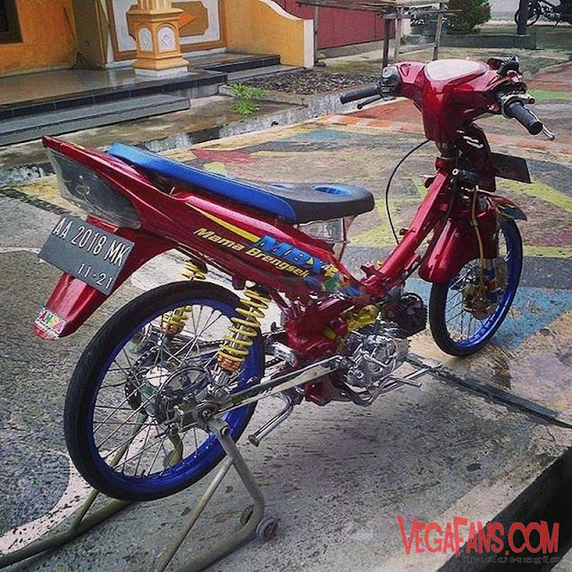Modifikasi Jupiter Z Merah Modif Racing Look Style