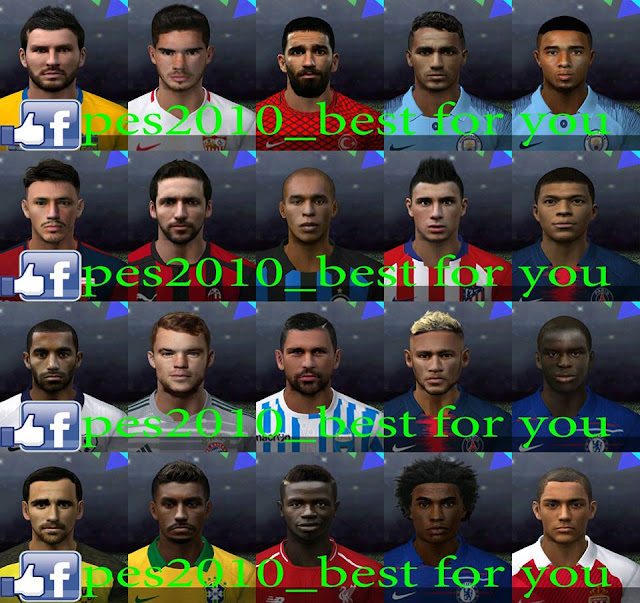 Ultigamerz Pes 2010 Pes 2011 Face: Ultigamerz: PES 2010 Best Mega Face-Pack 2018-19