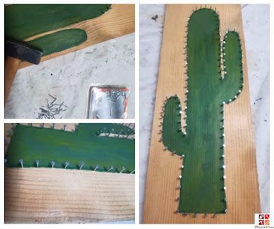 como hacer un cactus en tablero de madera