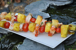 Sweet 'n Spicy Shrimp and Pineapple Skewers