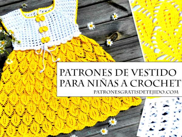 5f9f924a2d7bd Vestido Crochet On Line para Niñas Paso a Paso