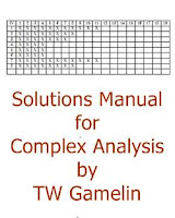 Solutions Manual for Complex Analysis by TW Gamelin