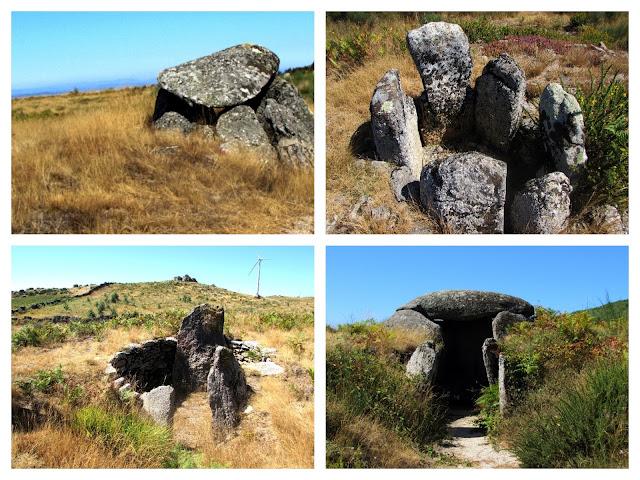 Pedras de granito da Serra da Aboboreira e jipe de aventura