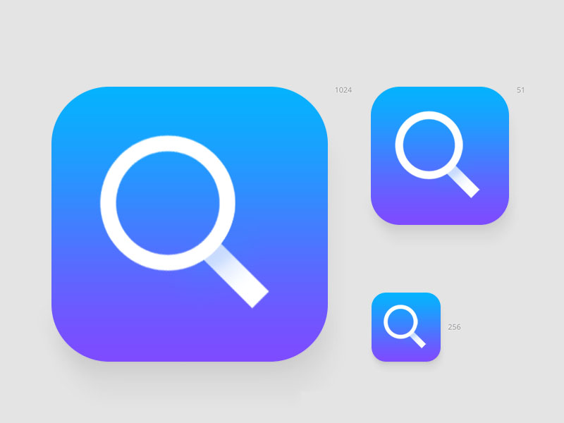 Search App Icon Design Idea