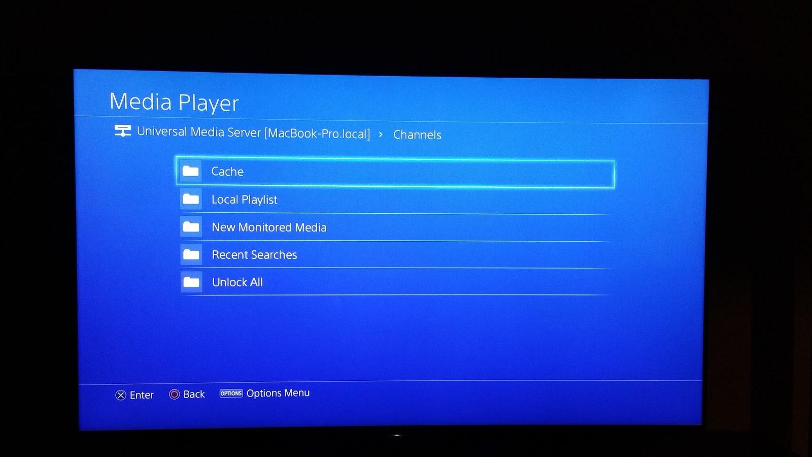 Finally!! Streaming media to the PS4 via the Media Player