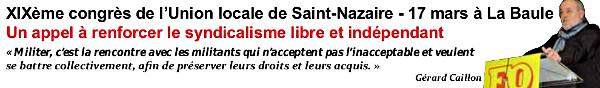 XIXème congrès de l'Union locale de Saint-Nazaire
