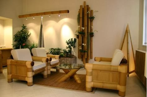 A mi manera decoraci n de la sala utilizando bamb - Decoracion bambu interiores ...