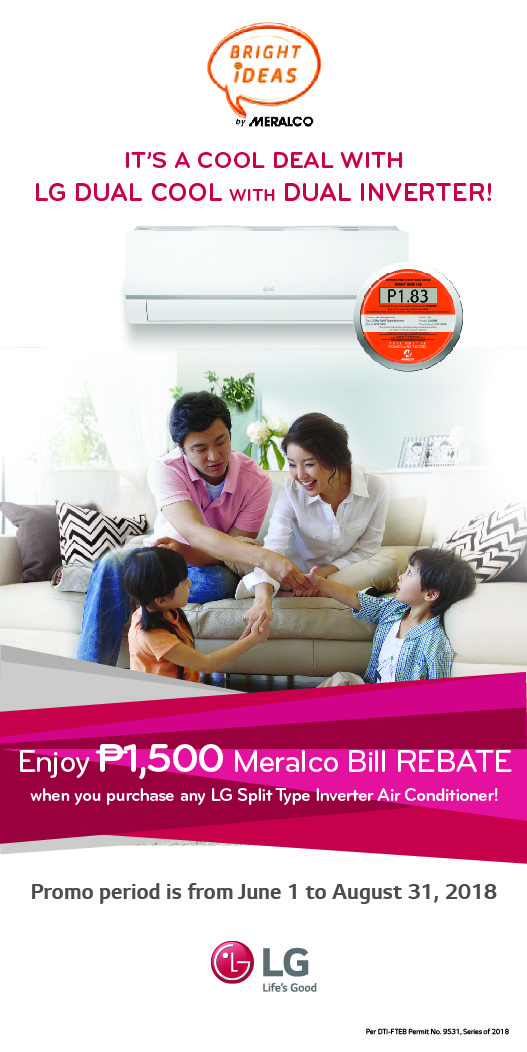 Get 1500Php OFF when you buy an LG Split Type Inverter Air Conditioner