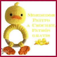 Mordedor patito a crochet