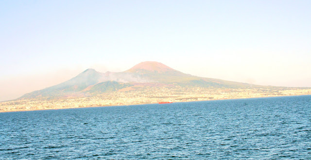 mare, acqua, cielo, Vesuvio, monte,vulcano