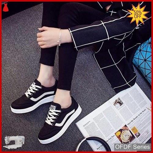 OFDF213 Sepatu Sneakers Cantik Sneakers Nikana Hitam BMGShop