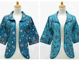 Baju Batik Kombinasi Bolero Lengan Pedek