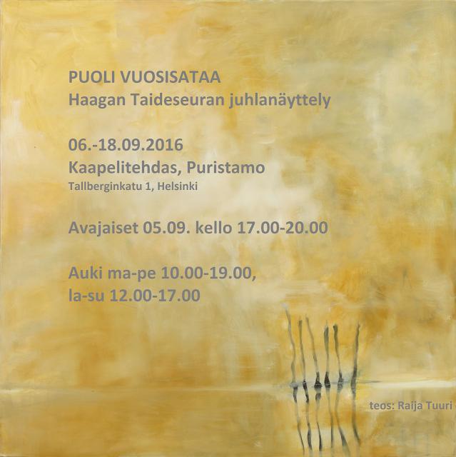 Puoli vuosisataa - Haagan Taideseuran juhlanäyttely
