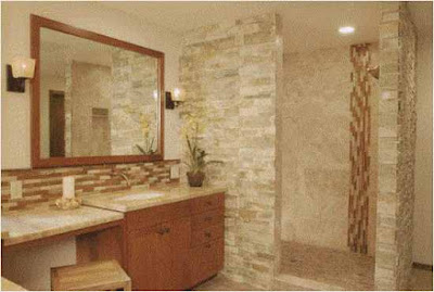 Bathroom Backsplash ideas  stone unique