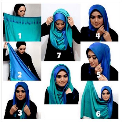 Tutorial Hijab Ima Scarf Pashmina yang Simple dan Elegan