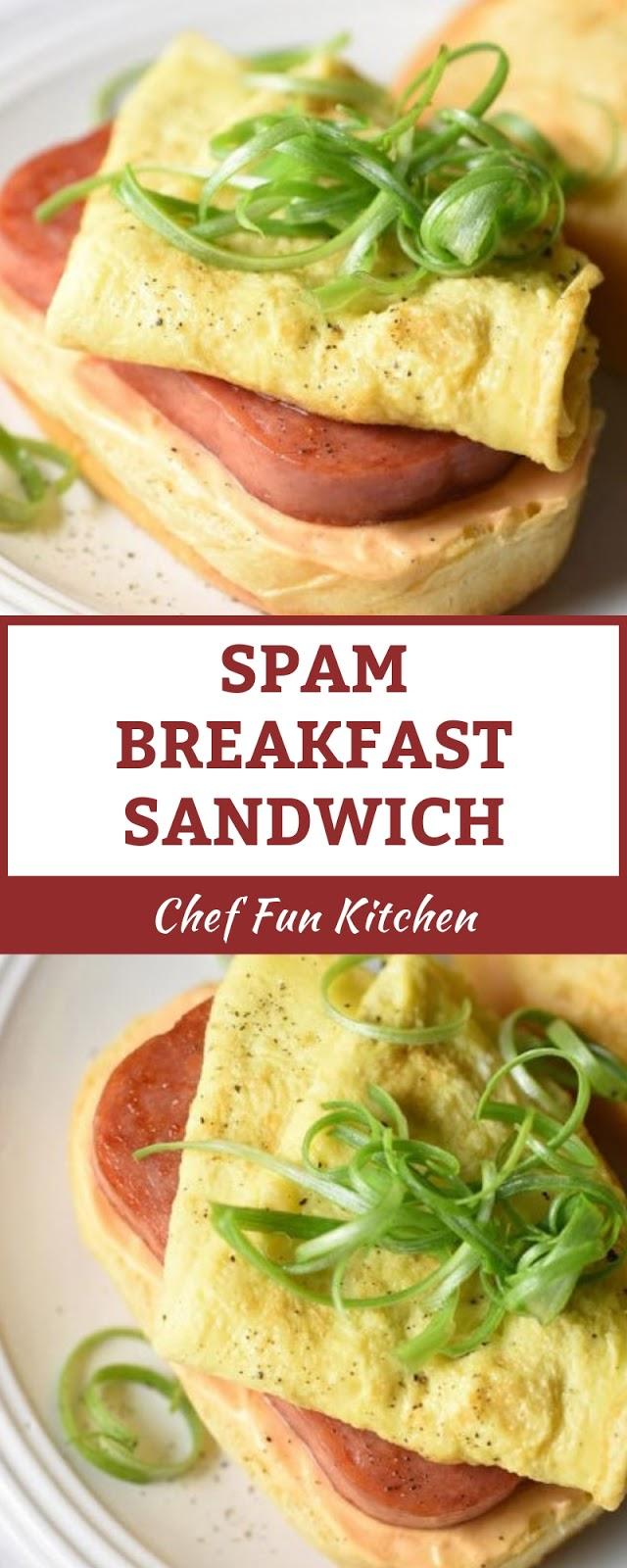 SPAM BREAKFAST SANDWICH
