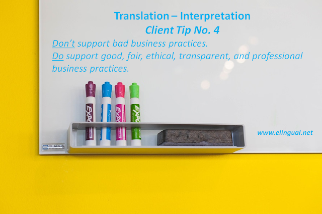 The 6 Do's and Don'ts Before Working with Professional Translators and Interpreters | www.elingual.net