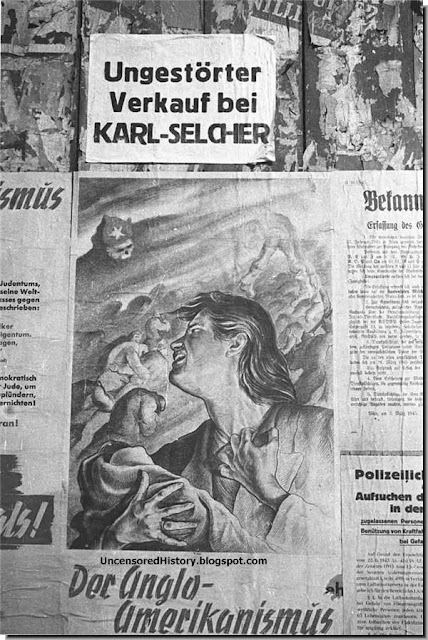 Nazi poster warning Germans what Russians would do